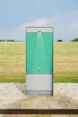 outdoor or open-air shower at public beach