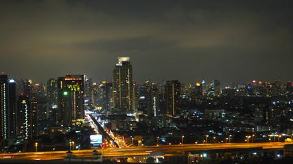 panoramic city view at night