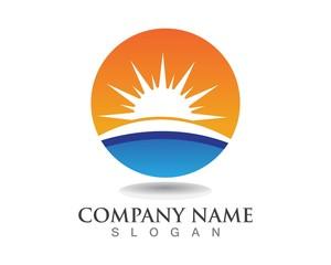 Sun logos symbols template