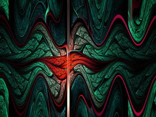 Colorful audio waves, digital artwork for creative graphic desig