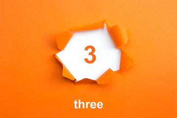 Number 3 - Number written text three