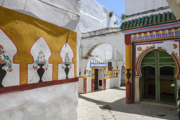 View of the entrance of a mosque in Tetouan, Morocco