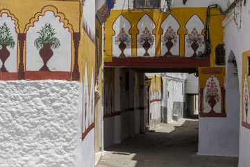 Painted street in Tetouan, Morocco