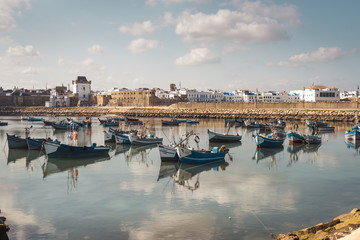 The harbour of Assilah, Morocco