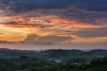Sunset landscape of the Philippines