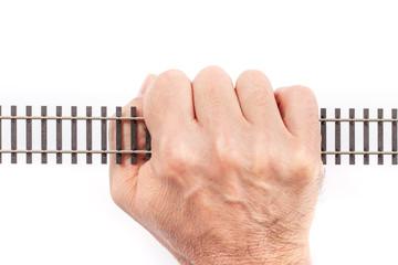Single Rail in a Hand