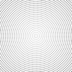 Abstract halftone dotted background. Monochrome round circles pattern with dots.