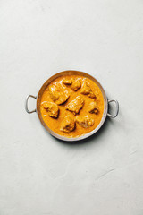 Traditional curry on concrete background