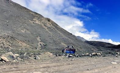 Scenic Himalayan mountain view in North Sikkim, India. On the way to Gurudongmar lake. Himalayan mountain view in North Sikkim, India.