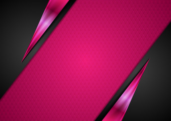 Black and pink glossy abstract corporate background