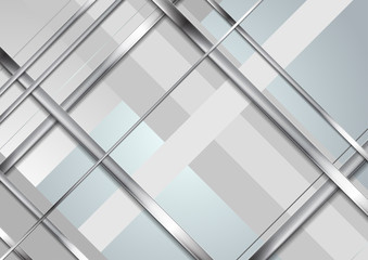 Grey abstract technology metallic stripes background