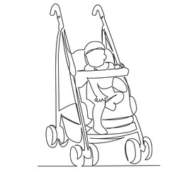 stroller with child