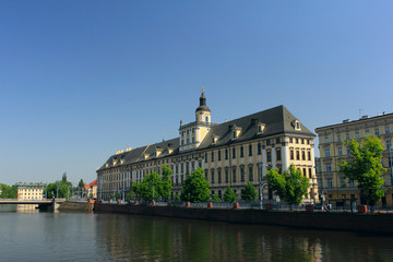 university of wroclaw, capital city of lower silesia in poland