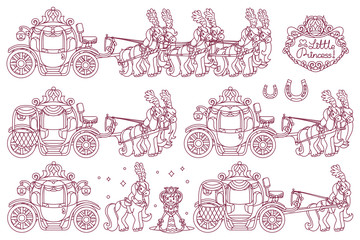 vector Cinderella carriage for little princess