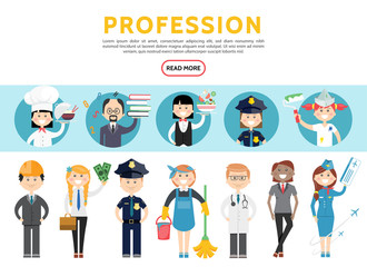 Flat Professions Set