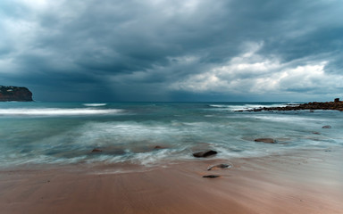 Overcast Seascape With Clouds