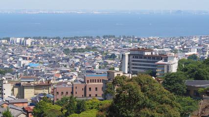 あじさいの里からの眺望(愛知県蒲郡市)