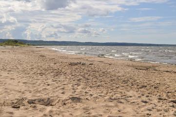 sand on the beach of the sea on a sunny day
