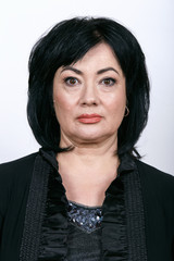 Portrait of mature woman with nude makeup