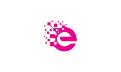 e initial digital logo