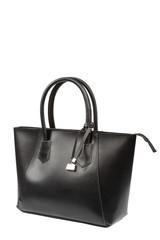 Fashionable women's handbag on a white background