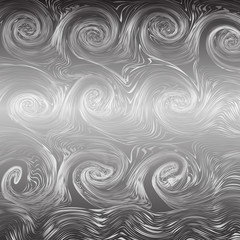 monochrome tone of wave spiral lines abstract background.