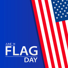 Vector illustration of a background for Happy Flag Day.