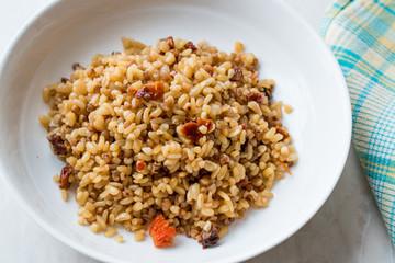 Cooked Bulgur Rice with Buckwheat / Pilav or Pilaf / Bulghur
