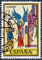 stamp printed by Spain, shows Blessed C. Gerona