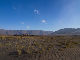 Mount Bromo volcano, the Amazing view of Bromo Mountain located in Bromo Tengger Semeru National Park, East Java, Indonesia. 2012 ,October 9th.