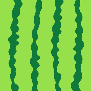 Watermelon green striped peel skin rind cut with in a row. Macro closeup. Summer Seamless Pattern. Food background. Flat design.