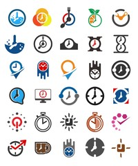 Clock Logo. Time icon. Period symbol. Vector eps 08.