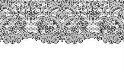 Seamless black lace