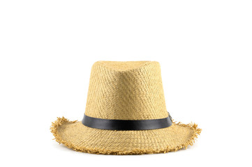 A brown hat on a white background.