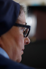Sister Rose Pacatte, a Catholic nun who reviews movies,  is shown in her office in this picture taken May 24, 2018 in Culver City