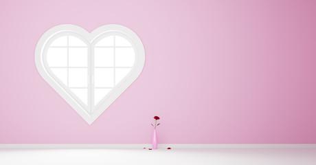 Herzförmiges Fenster