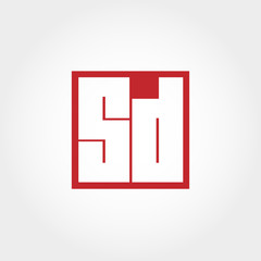 Initial Letter SD Logo Template Vector Design