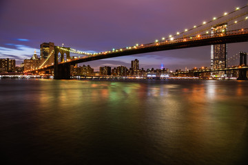 Brooklyn bridge and Manhattan night view
