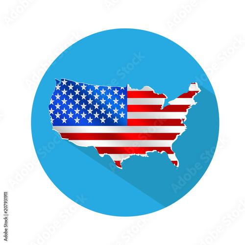 USA map icon\