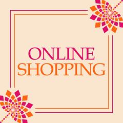 Online Shopping Pink Orange Floral Square