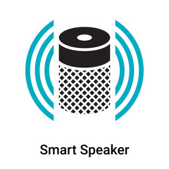 Smart Speaker icon vector sign and symbol isolated on white background, Smart Speaker logo concept