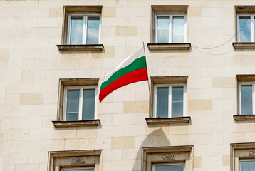 Bulgarian flag in Sofia City, Bulgaria