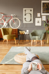 Chillout time in vintage room