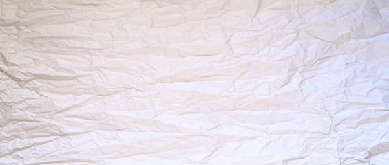 Texture background image of unpainted crumpled wrapping paper