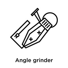 Angle grinder icon vector sign and symbol isolated on white background, Angle grinder logo concept