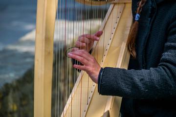 Harpiste.