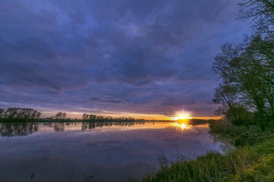 Garonne river sunset