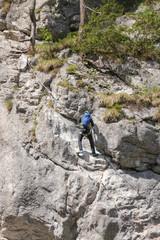 Kletterer, Silberkarklamm, Schladming Dachstein