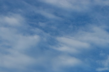 Image of Blue sky with clouds. Can be used poster for advertising. Nature concept.
