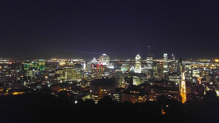 Montreal during the night